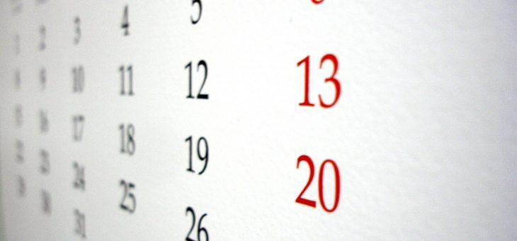 Planowane dodatkowe dni wolne w 2019 roku
